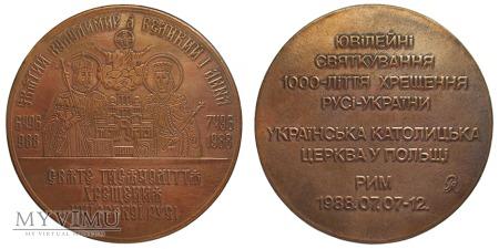 1000-lecie Chrztu Rusi-Ukrainy medal 1988