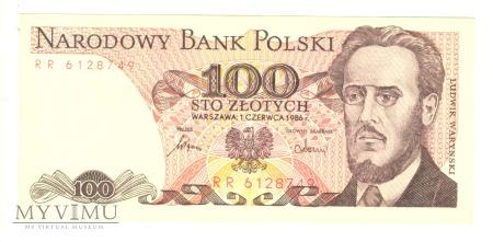 100 złotych PRL 1986