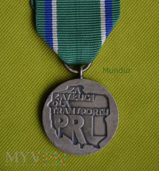 """Odznaka srebrna """"Za Zasługi dla Transportu PRL"""""""