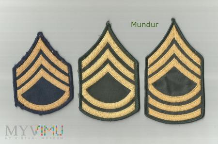 US Army: oznaki stopni sierżantów
