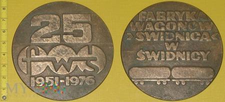 Medal kolejowy - firmowy FWŚ w Świdnicy