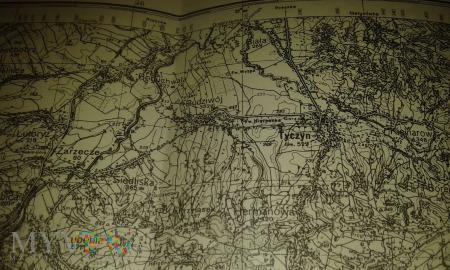 Duże zdjęcie Tyczyn mapa 1938
