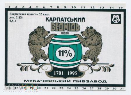 Etykieta piwna z niedźwiedziem