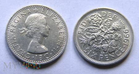 Wielka Brytania, SIX PENCE 1966