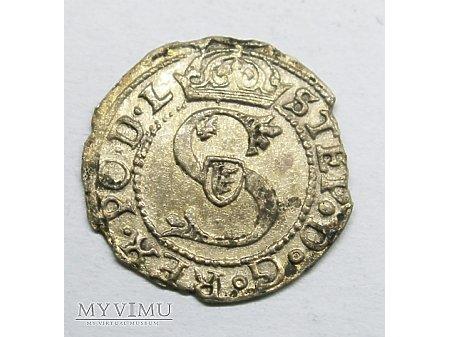 Stefan Batory m Ryga- Szeląg 1582