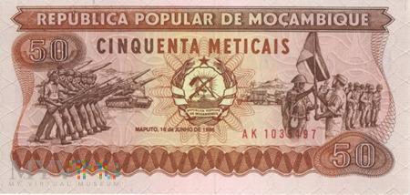 Duże zdjęcie MOZAMBIK 50 METICAIS 1986