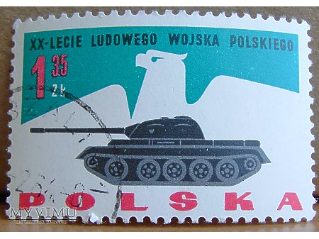 Czołg T-55 na znaczku