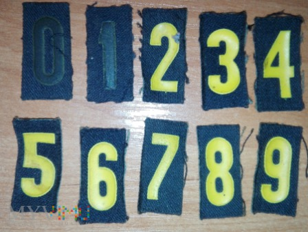 Numer (cyfry) okrętowy marynarzy i podoficerów MW