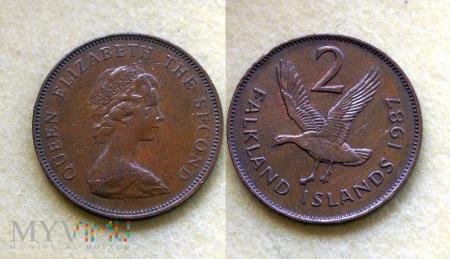 Falklandy, 2 Pence 1987