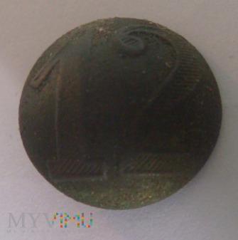 Pruski guzik wojskowy nr 12 (wzór 1842)