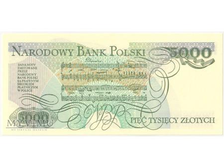 5000 złotych 1988 rok seria DT