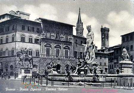 Florencja - Kosma I Medyceusz + fontanna