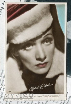 Marlene Dietrich Art Photo Postcard nr 34