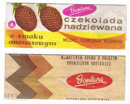 Goplana - dwie czekoladki nadziewane.