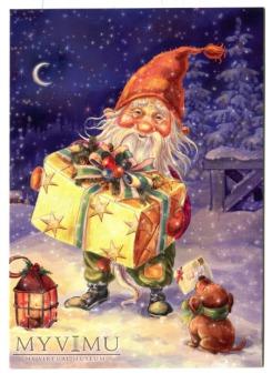 Skrzat z wielkim prezentem Wesołych Świąt...