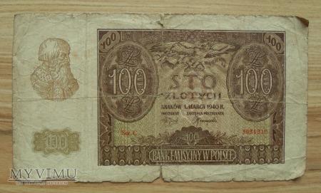 100 zł, Generalne Gubernatorstwo, rok 1940