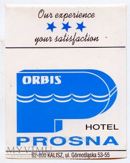 Nalepka hotelowa - Kalisz - Hotel Prosna