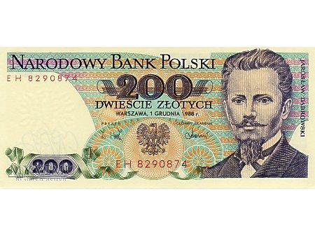 200 Złotych 01.12.1988 r.