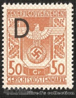 """Gerichtskostenmarke 50 groszy """"D"""""""