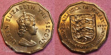 Jersey, 1/4 Shilling 1966