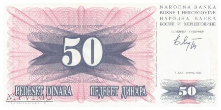 Duże zdjęcie Bośnia i Hercegowina - 50 dinarów (1992)