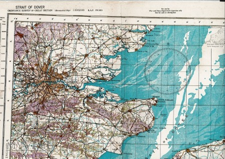 Strait of Dover - mapa R.A.F