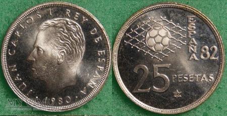 Hiszpania, 25 PESETAS 1980