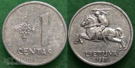 Litwa, 1 centas 1991