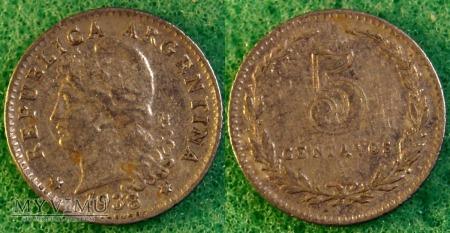 Argentyna, 5 centavos 1938