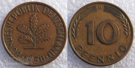 Niemcy, 1950, 10 PFENNIG
