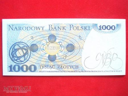 1000 złotych 1982 rok
