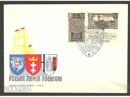 Koperty FDC ze znaczkami Fi 1171-1176 z 1962 roku.