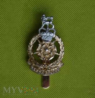 Duże zdjęcie Brytyjska odznaka Lancastrian cap badge