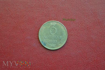 Moneta sowiecka: 3 kopiejki