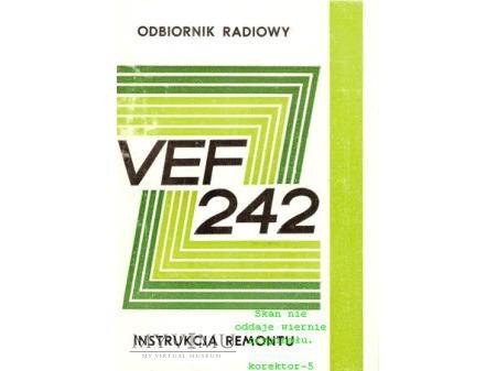 Instrukcja radia VEF-242