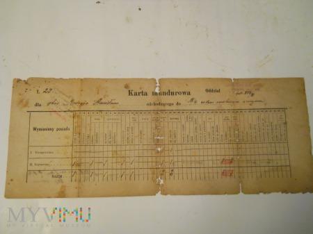 Karta Mundurowa 85 Pułk Strzelców Wileńskich