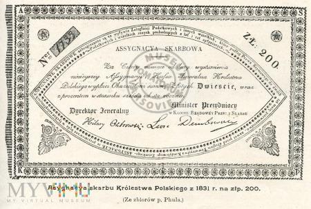 Asygnacja skarbu Królestwa Polskiego z 1831 roku