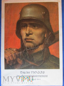 Propagandowa karta pocztowa z G.Guberni