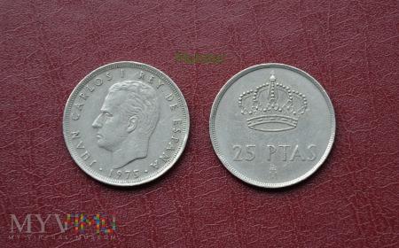 Moneta hiszpańska: 25 ptas