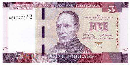 Liberia - 5 dolarów (2016)