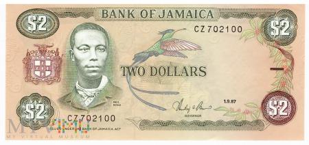 Jamajka - 2 dolary (1987)
