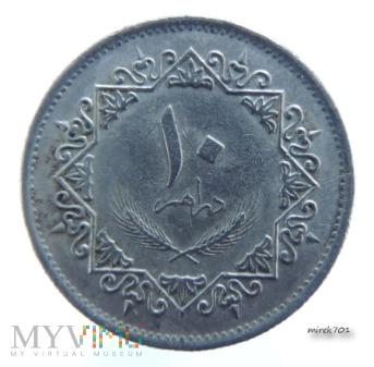 Libia 10 dirham 1975