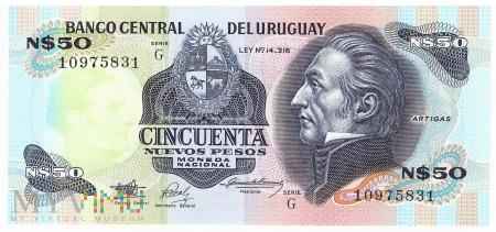 Urugwaj - 50 nowych pesos (1989)