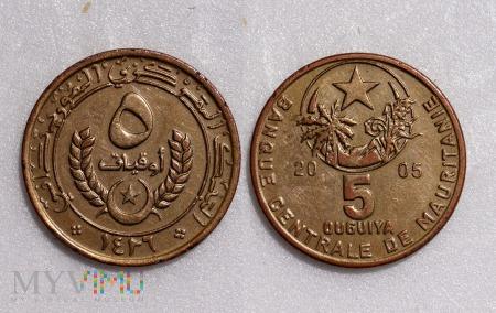 Mauretania, 5 Ouguiya 2005