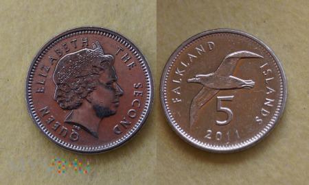 Falklandy, 5 Pence 2011