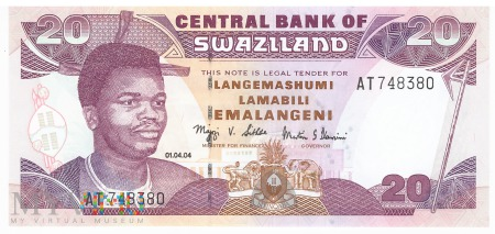 Suazi - 20 emalangeni (2004)