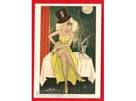 Album luz kartka Marlene Dietrich Greta Garbo 47