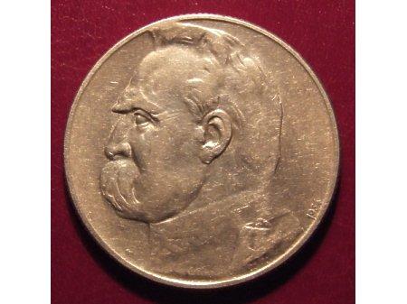 5 złotych z Józefem Piłsudskim - Orzeł Strzelecki