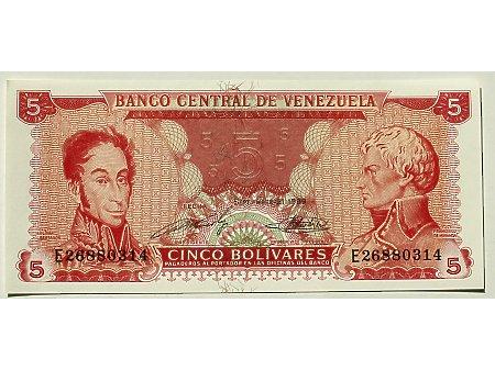 Wenezuela- 5 Bolivarów UNC