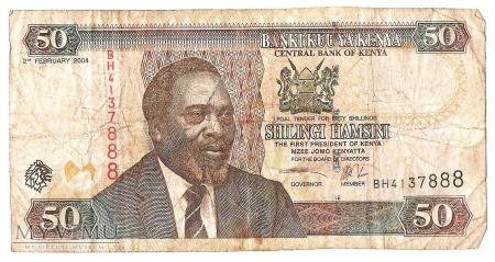 50 Szylingów (Shilingi), Kenia, 2004 rok.
